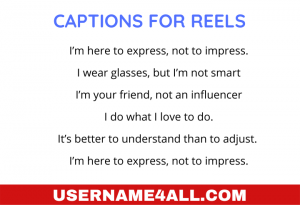 Captions For Reels