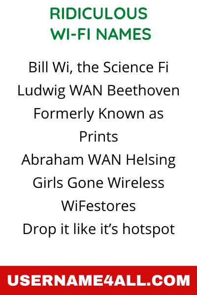 Ridiculous WiFi Names