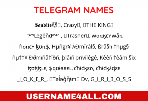 Telegram Names