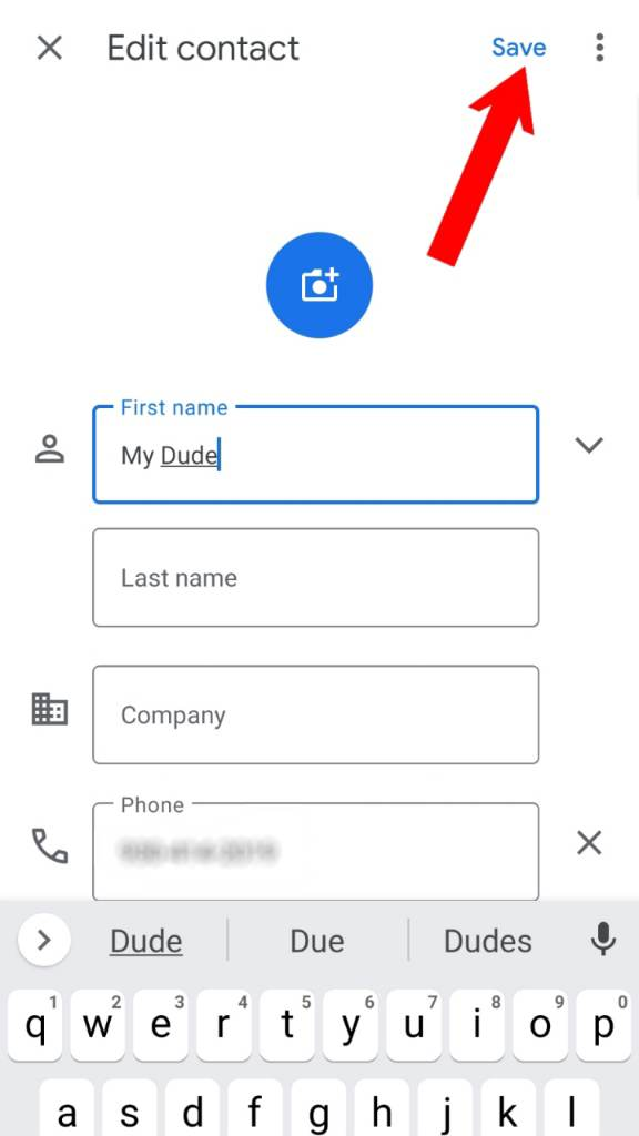 change contact name 1