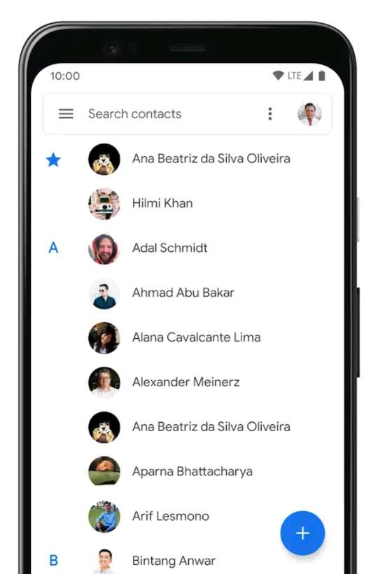 change contact name